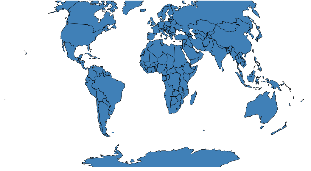 Simple World Map With Country Names